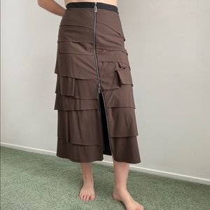 Brown Woven Skirt